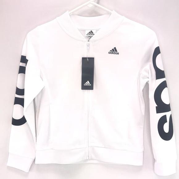adidas Other - Adidas White Full Zip Hoodie Jacket Sweater Medium